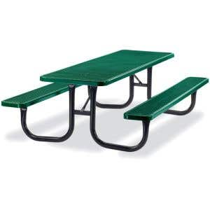Thermoplastic Coated Picnic Table - Rectangle