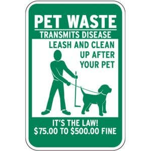 Remind dog walkers of fines!