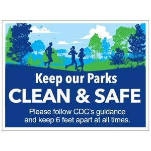 Pet Waste Sign - Keep Parks Clean and Safe