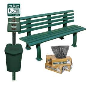 Includes Plastic Station, Plastic Bench and 800 Bags!