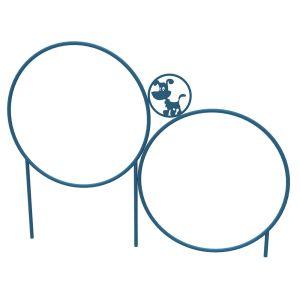 Dog Park Products - 2 Hoop Jump - Blue