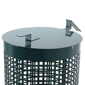 22 Gallon Steel Trash Can Lids - Green