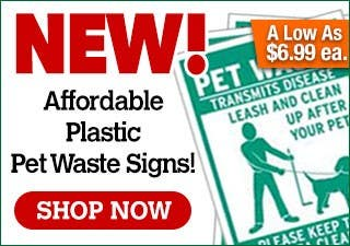 NEW! Affordable Corrugated Pet Waste Signs