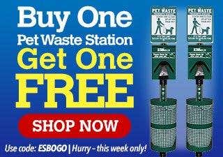 Buy One Pet Waste Station Get One Free