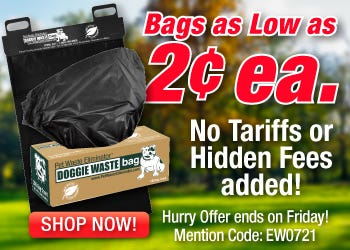 Bags as Low as 2 cents each!  No tariffs or Hidden Fees added! Shop Now, Hurry offer ends on Friday!