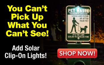 Pet Waste Stations with Light