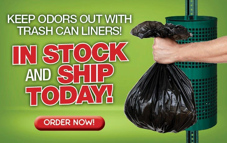 Keep odors out with trash can liners